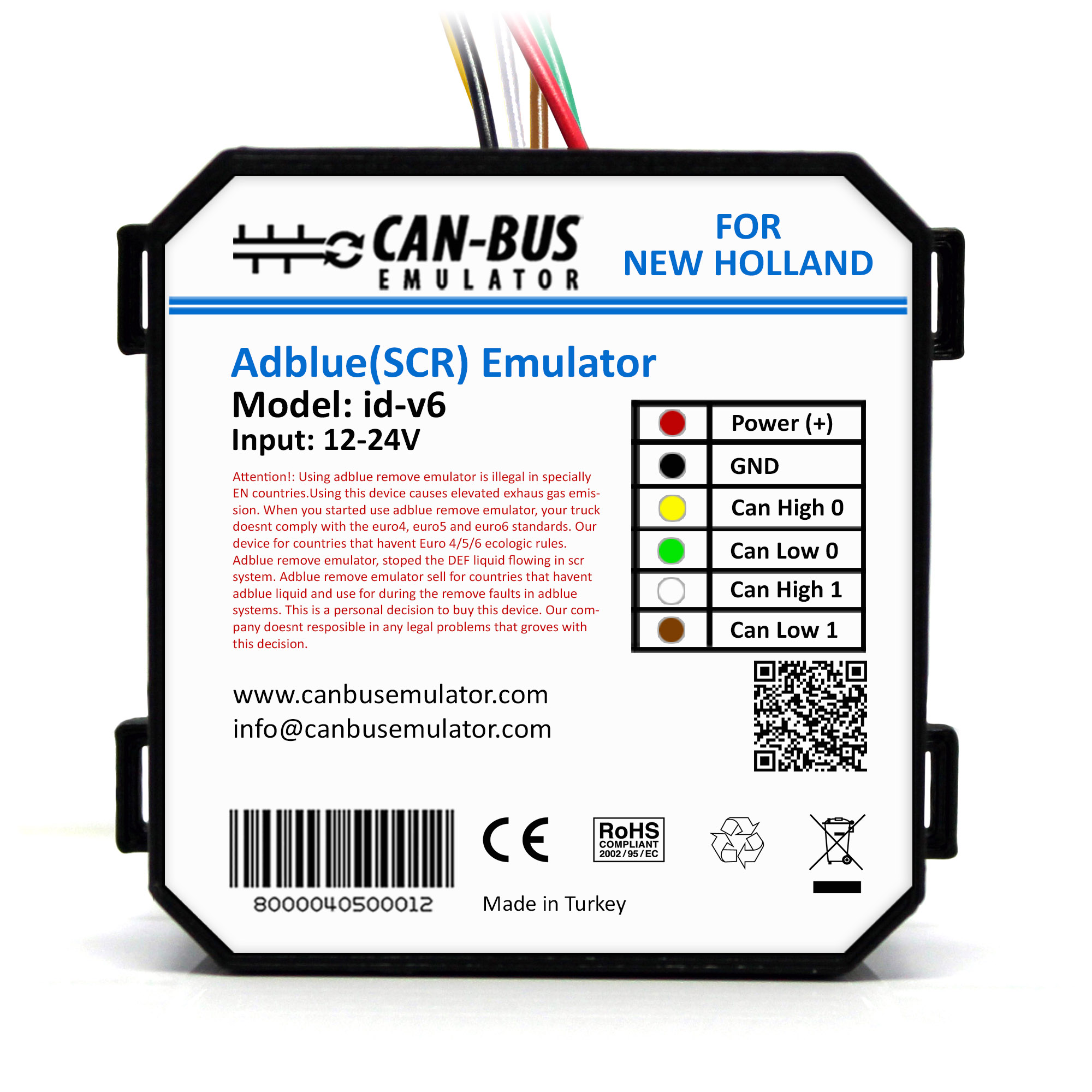 New Holland Euro 6 Adblue Removal Emulator